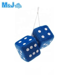 Soft Plush Car Hanging Dice Assorted Colors Customized