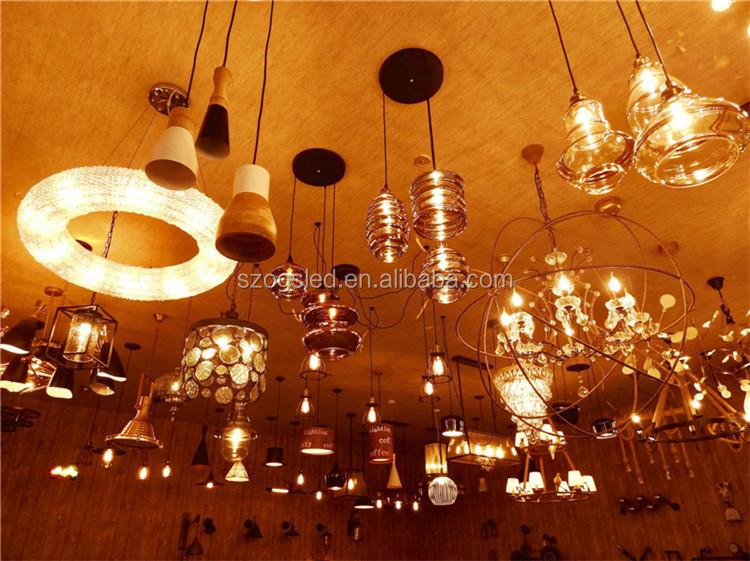 Moderno lampade da tavolo a led parti di illuminazione rame e14