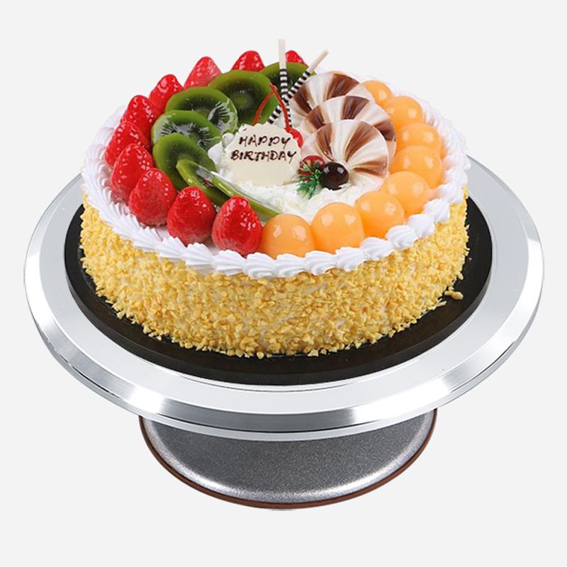 Soporte giratorio para decoración de pasteles de aleación de aluminio de 9 y 12 pulgadas