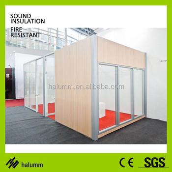 Simplified Installation Modular Steel Panel Glass Frame Office ...