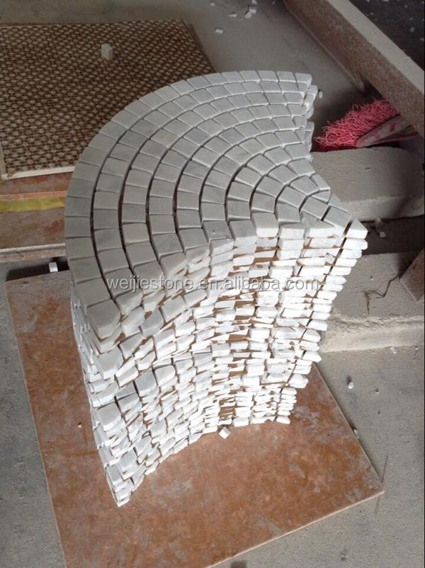 Fan Shape Carrara White Marble Mosaic Tile