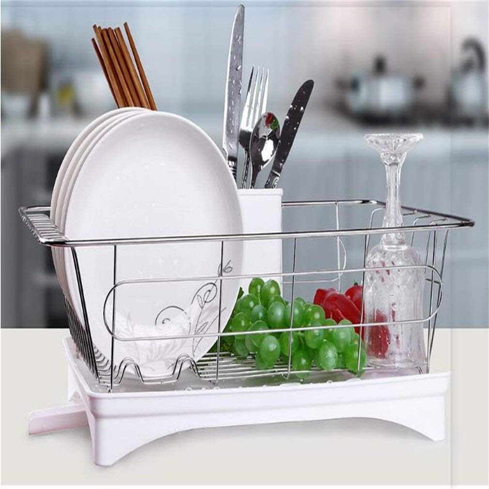 Dish Drying Rack Rustproof Stainless Steel Metal Wire Medium Dish Drainer  Drying Rack 04c01bc7acd9