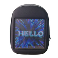 Wholesale Waterproof Smart LED Backpack Walking Billboard Mobile Control LED Turn Signal Light Bag Backpack