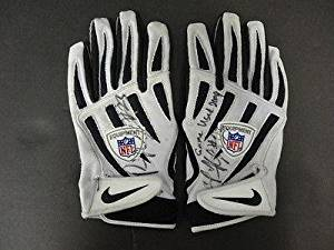 b7012f9733e Pierre Thomas Signed Game Used Official NFL Nike Gloves Auto AB70079 80 -  PSA