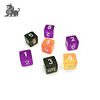 Factory direct sales Six Sided 16mm Dice Transparent Cube Round Corner Portable Table Playing Games Dices
