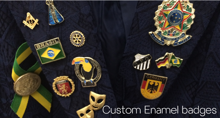 Wholesale custom vintage enamel pins