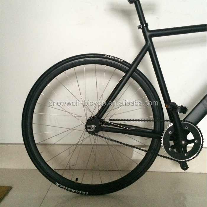 6061 Aluminum Alloy Frame Fixie Bike Track Bicycle Carbon Fiber Fork ...