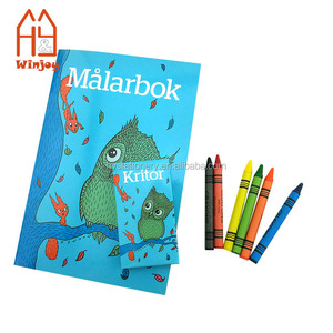 Kids coloring book and crayons/custom printing color filling book