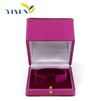 Romantic Pink Velvet Bracelet Box VelvetJewelry Box Lining Velvet