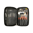 Professional Soft Makeup Brush Set Kit + Pouch Bag to travel Cosmetic bags for tidy