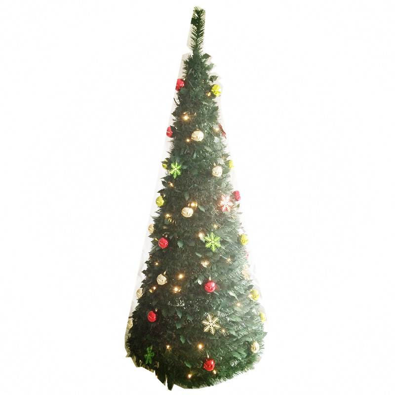 6ft Light Up Pop Up Collapsible Holly Leaf Tinsel Tree Buy Pop Up Christmas Tree Collapsible Christmas Tree Light Up Christmas Tree Product On