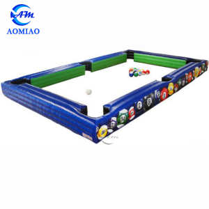 Attractive Inflatable Snooker Ball Game Playground Soccer Pool Table Inflatable Billiard Ball