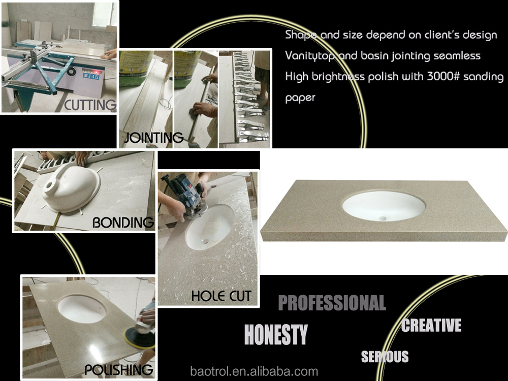 Composite Solid Surface Countertop Sink/above Counter Art Basin ...