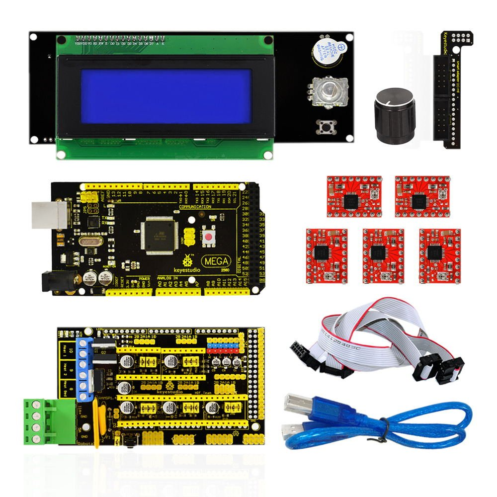 Cheap Mega Controller Find Deals On Line At Alibabacom Ramps 14 Arduin 2560 Get Quotations Keyestudio 3d Printer Cnc Kit For Arduino 5x A4988