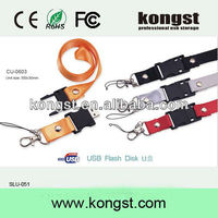 top selling in usa different models keychain lanyard 2gb flash pen drive/custom logo printed 2gb lanyard usb thumb drive