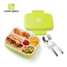 5 compartimentos lunch box con cubiertos
