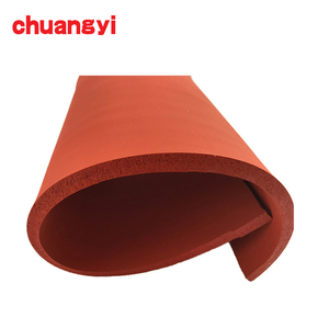 High quality low hardness foam sponge red silicone rubber sheet