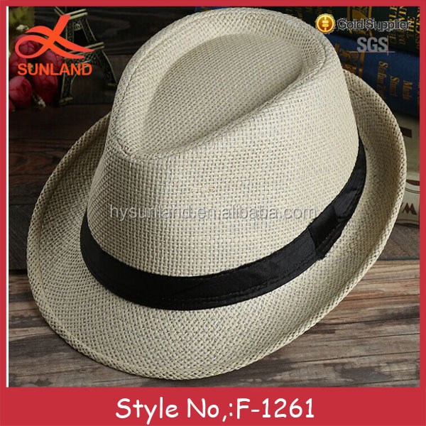 F-1261 summer cheap fedora hat fashion straw hats for men wholesale