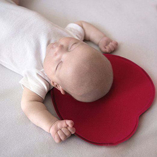 Organic cotton newborn sleep head protection shaping memory foam pillow flat head baby pillow
