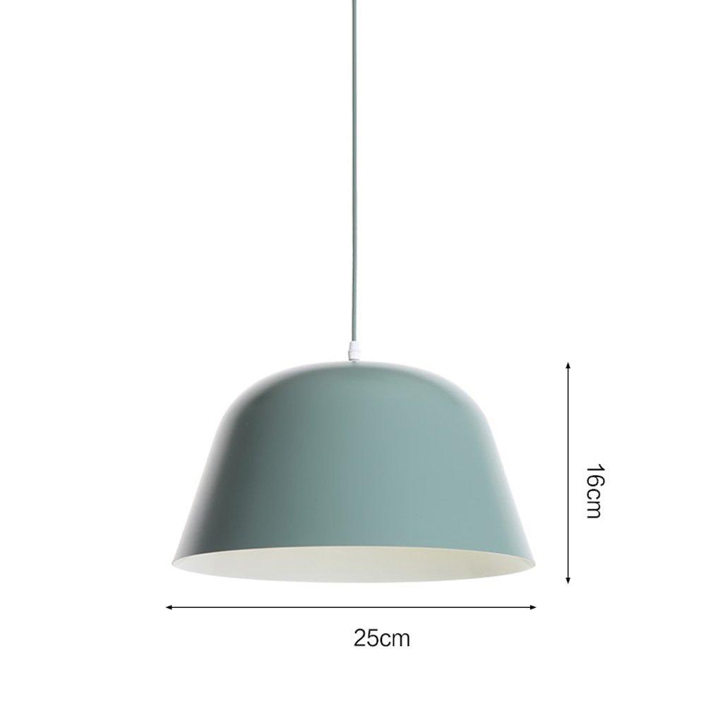 LED Single-head Chandelier, Multi-color Optional, 25cm/40cm Diameter,aluminum Lampshade, Personalized Bar Counter Bedroom Chandeliers ( Color : Green-2516cm )