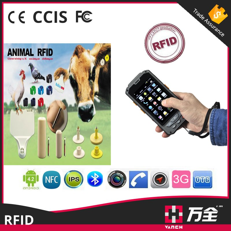 Animal tracking android handheld RFID reader