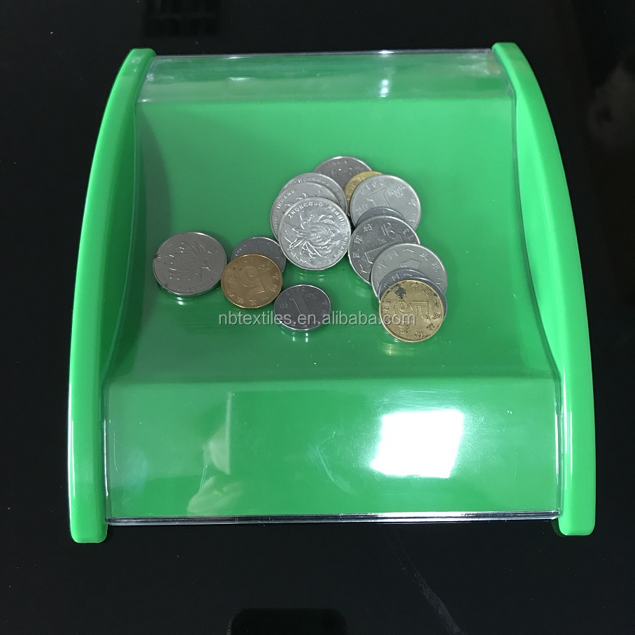 cheap price square plastic money tray coin tray cash serving trays