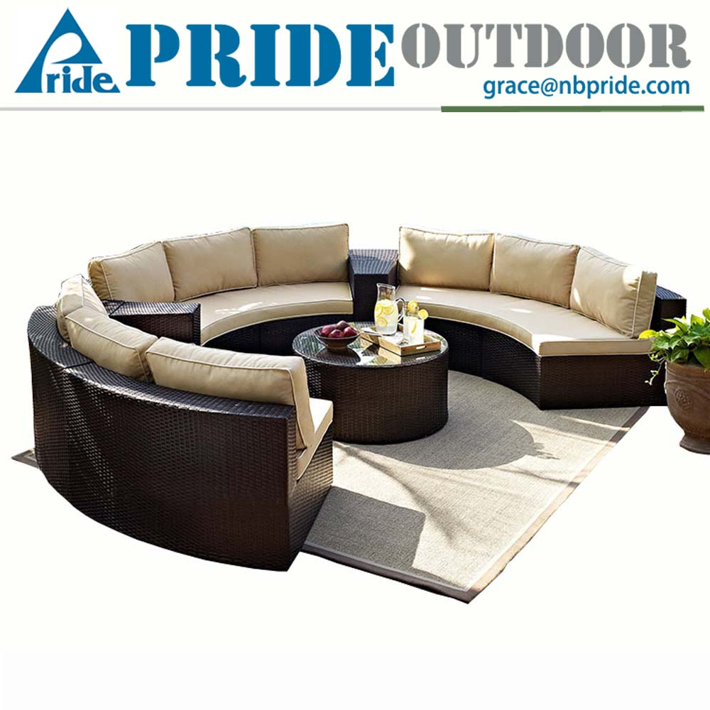 Outdoor Rattan Garden Terrace Furniture Leisure Round Wholesale Rattan Wicker Furniture