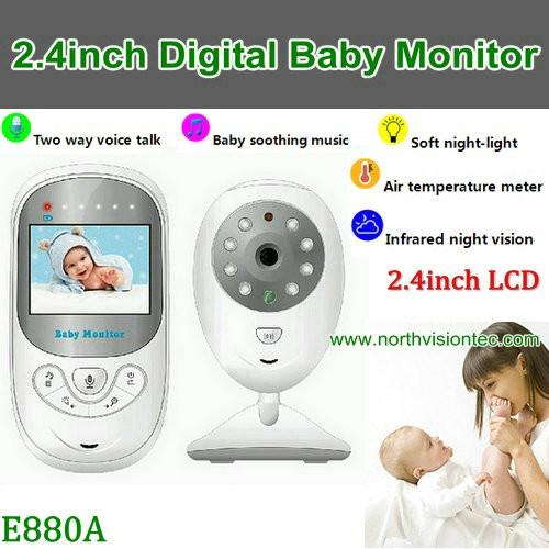2.4G digital wireless audio baby monitor with baby temperature monitor