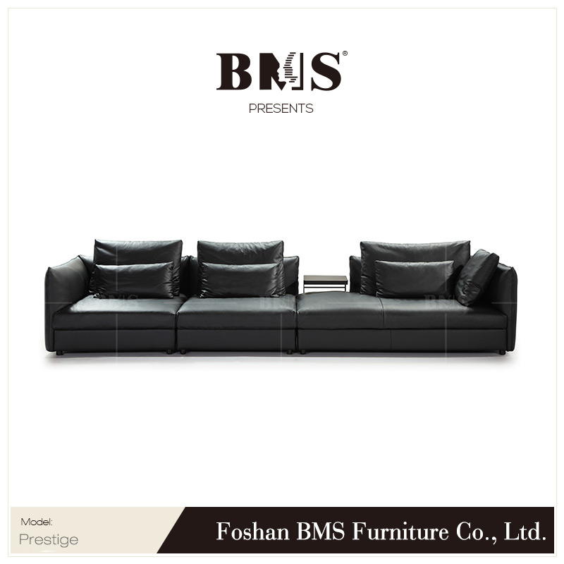 Top Quality Full Aniline Black Modern Italian Leather Sectional Sofa Set -  Buy Black Leather Sofa,Modern Leather Sofa,Italian Leather Sofa Set Product  ...