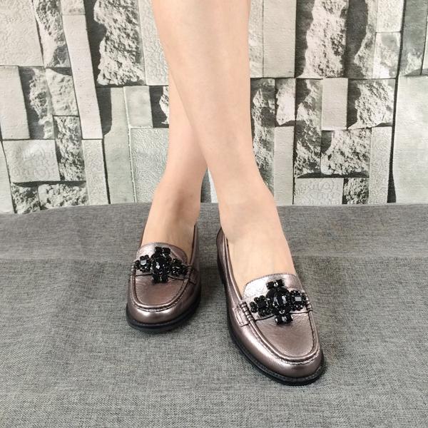 Handmade Guangzhou Genuine Shoes Brand Flat Leather Women Manufacture fwI7q