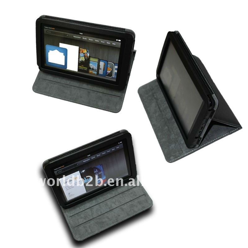 Multi-Angle Leather Folio Case Cover for Amazon Kindle Fire