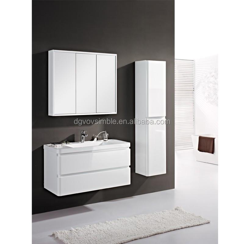 2016 doble lavabo moderno cuarto de baño vanidad, mdf mueble de ...