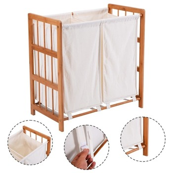 White Dirty Clothes Storage Wooden