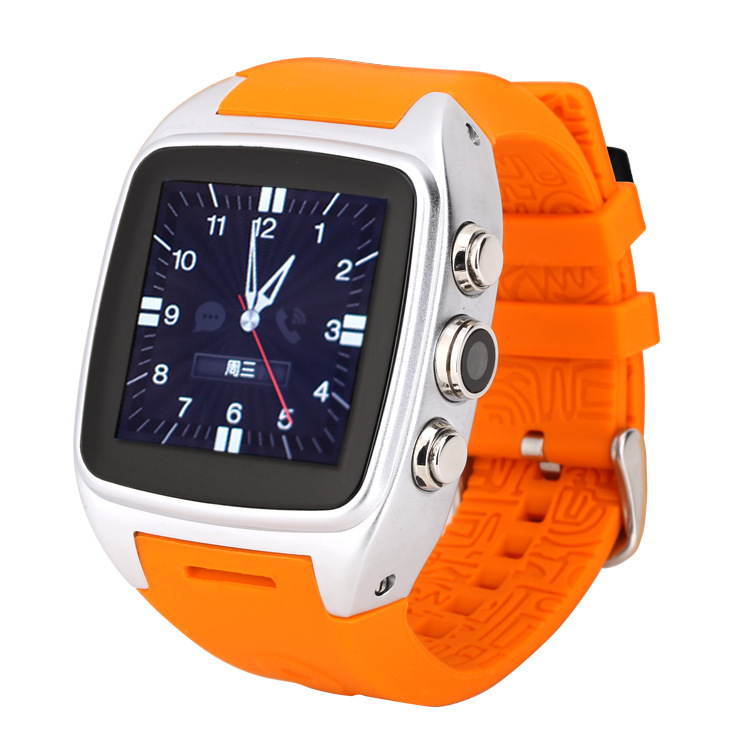WCDMA Frequency 2100MHZ Smart watch phone , GSM Frequency 900/1800 mhz smart phone watch with touch display and camera