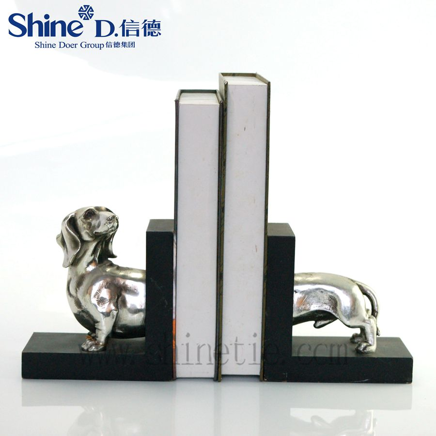 2016most selling product modern polyresin metal finish silver animal figurines