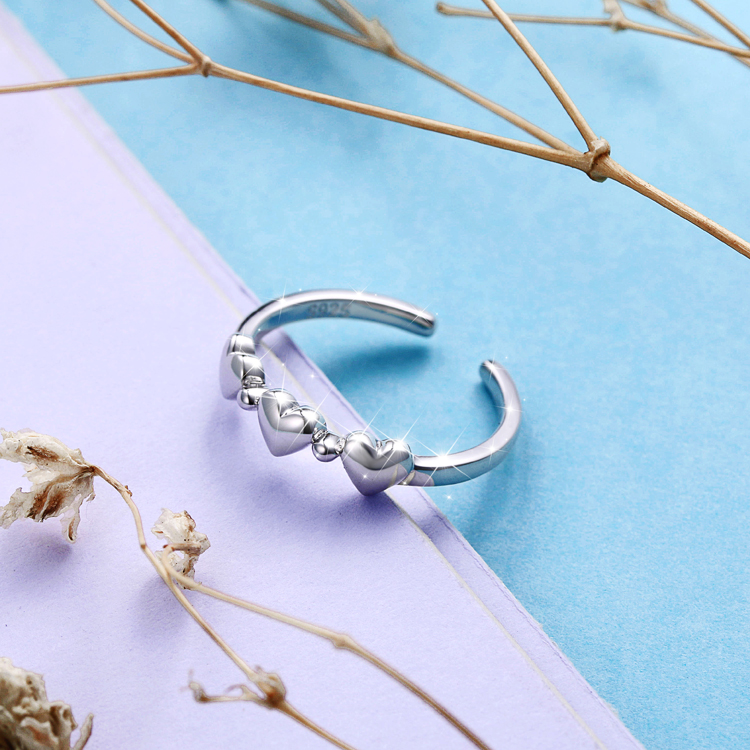 Factory Wholesale Cheap 925 Sterling Silver Adjustable Open toe Rings