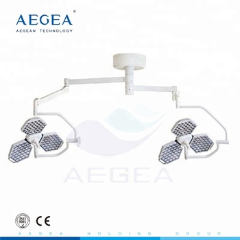 AG-LT014 Surgical double heads shadowless led operating treatment lighting medical lamp portable