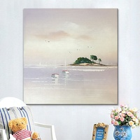 Wall Decor Canvas Art Hand Painting Sea And Sailing Boat Beach Seascape Oil Painting Home Living Room Decoration