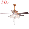 OEM 52'' 5 Wooden Blades Remote Control 220V Inverter Ceiling Fan With Lights