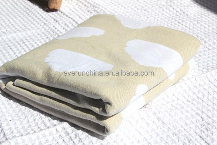 50db72 Lovely Cloud Jacquard Baby Security Blanket,Merino Wool ...