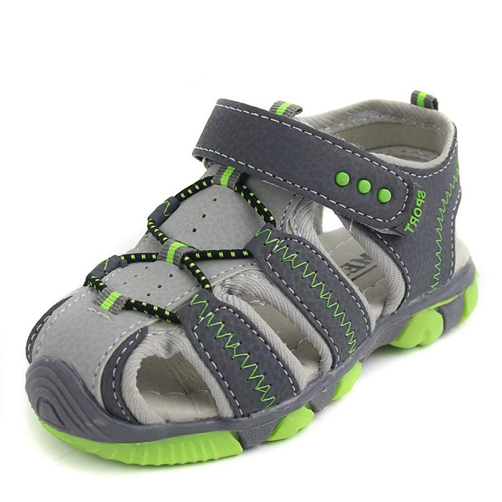 CYBLING Boys Outdoor Athletic Strap Breathable Open Toe Water Sandals Toddler//Little Kid//Big Kid