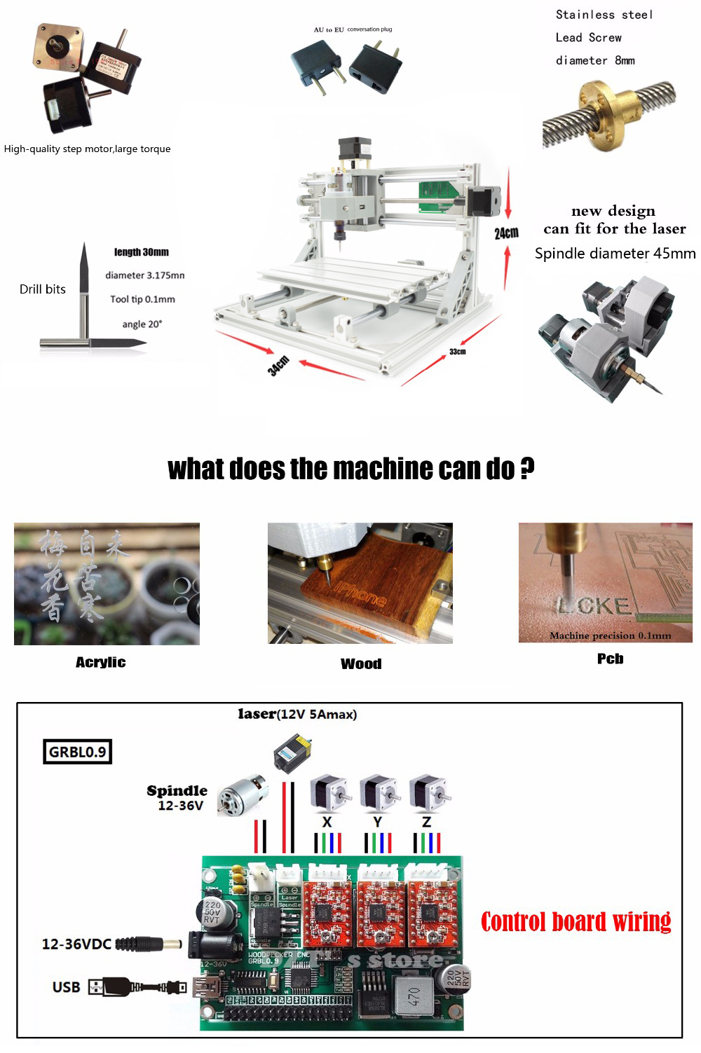 Cnc 2418 Er11 Spindle ᗑ Grbl Grbl Diy Cnc Laser Machine