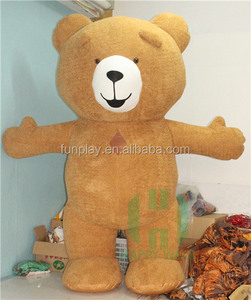 2.5m/2m Inflatable costumes walking mascot bear inflatable mascot costume