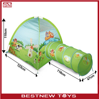 Kids play tent farm house with tunnel tent  sc 1 st  Alibaba & Kids Play Tent Farm House With Tunnel Tent - Buy Tunnel TentKids ...