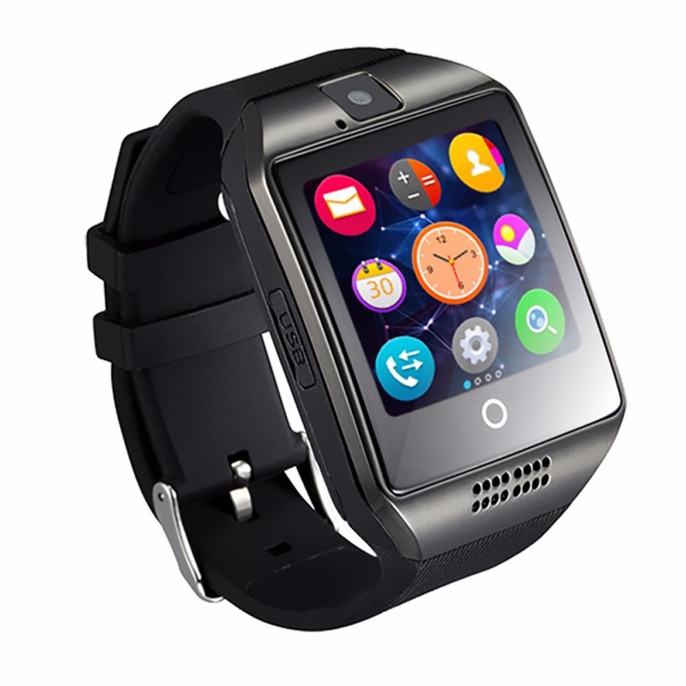 Cheap MP3 Player Camera Q18 Watch Bluetooth for Smartphone