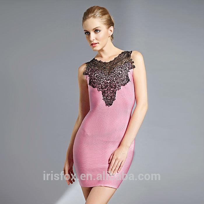 hong kong clubes nocturnos de color rosa corto vestido de noche ...