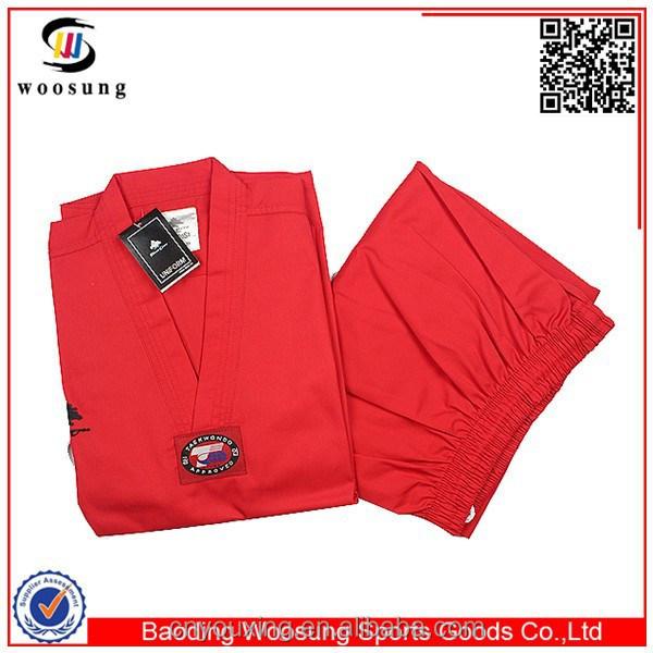 Clothing Suppliers China Red Taekwondo Dobok Pine Tree Taekwondo ...