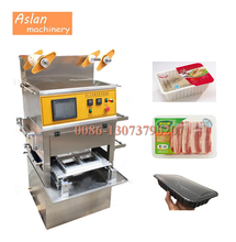 vacuum food plastic tray sealer/fruit tray sealing machine/meat vegetable container packing machine