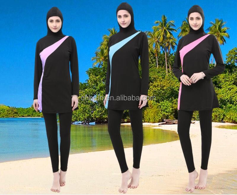 9f56c054d97 18MA2206 muslim swimwear female bathing suit two piece swimsuit plus size muslim  swimming beachwear 2018 new Islamic swimsuit