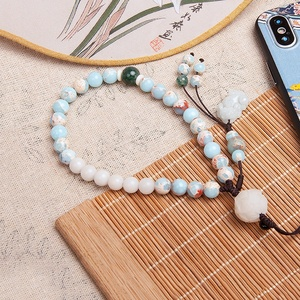 Exquisite phone lucky accessories brave troops bead bracelet mobile phone straps wrist lanyard for cell phone